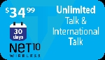 Net10 30 Days Unlimited Talk & Unlimited International Talk