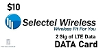 Selectel Wireless Data Card 2 Gig for $10