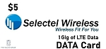 Selectel Wireless Data Card 1 Gig for 5$
