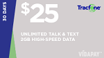 Tracfone $25 Unlimited