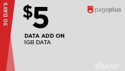 Page Plus Additional Data Card $5