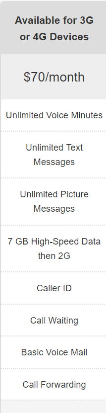 Selectel Wireless $70.00 Unlimited talk, text & data 10 Gigs at high speed slowed thereafter